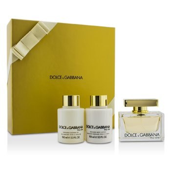 Dolce & Gabbana The One Casetă: Apă De Parfum Spray 75ml/2.5oz + Loţiune de Corp 100ml/3.3oz + Gel de Duş 100ml/3.3oz  3pcs