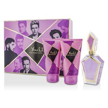 One Direction Bộ You & I: Eau De Parfum Spray 100ml/3.4oz + Dưỡng Thể 150ml/5.1oz + Gel Tắm 150ml/5.1oz  3pcs