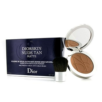 Christian Dior Diorskin Nude Tan Nude Extra Matte Sun Powder (With Kabuki Brush) - # 002 Matte Amber  10g/0.35oz