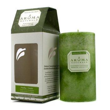 Aroma Naturals Authentic Aromatherapy Lumânări - Vitality (Mentă şi Eucalipt)  (2.75x5) inch