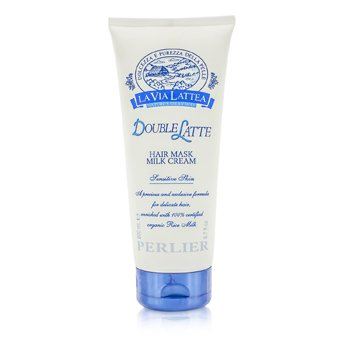 Perlier La Via Lattea Double Latte Hair Mask Milk Cream - Sensitive Skin (For Delicate Hair)  200ml/6.7oz