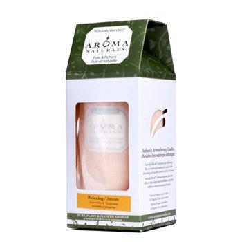Aroma Naturals Authentic Aromatherapy  Lumânări - Relaxing (Lavandă şi Mandarină)  (2.75x5) inch