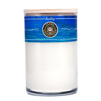 Terra Essential Scents Massage & Intention Candle - Healing  12oz