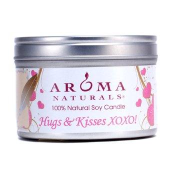 Aroma Naturals Świeca zapachowa 100% Natural Soy Candle - Hugs & Kisses XOXO!  6.5oz