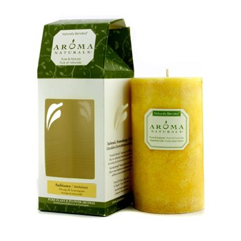 Aroma Naturals Authentic Aromatherapy Candles - Ambiance (Orange & Lemongrass)  (2.75x5) inch