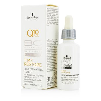 Schwarzkopf BC Time Restore Q10 Plus Rejuvenating Serum (For Mature and Fragile Hair)  30ml/1.01oz