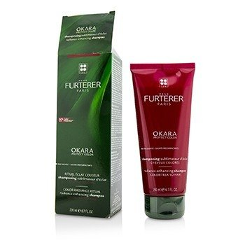 Rene Furterer Okara Radiance Enhancing Shampoo - For Color-Treated Hair (Box Slightly Damaged)  200ml/6.76oz