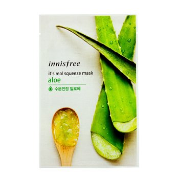 Innisfree It's Real Squeeze Mask - Aloe  10pcs