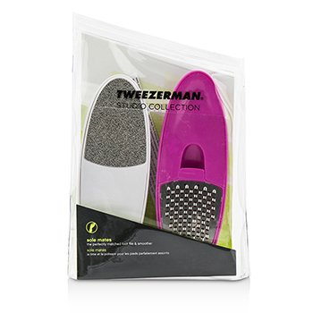 Tweezerman Sole Mates Foot The Perfectly Matched Foot File & Smoother  (Studio Collection)  2pcs