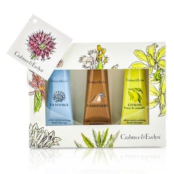 Crabtree & Evelyn Best Seller Hand Cream Set: La Source 25g + Gardeners 25g + Citron 25g  3x25g/0.9oz