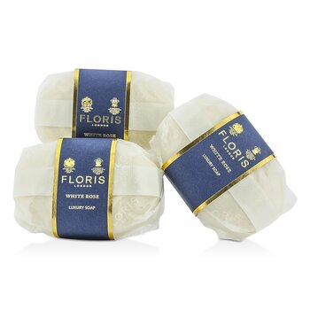 Floris White Rose Luxury Soap  3x100g/3.5oz