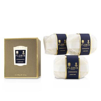 Floris Stephanotis Luxury Soap  3x100g/3.5oz