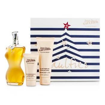 Jean Paul Gaultier Le Classique Coffret: Eau De Toilette Spray 100ml/3.3oz + Loción Corporal 75ml/2.5oz + Gel de Ducha 30ml/1oz  3pcs
