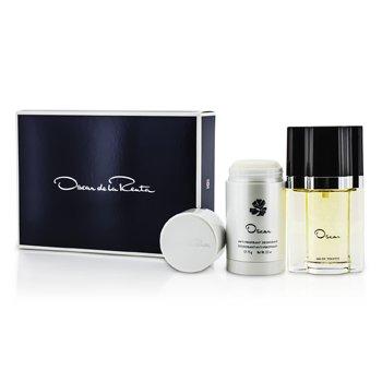 Oscar De La Renta Oscar Coffret: Eau De Toilette Spray 50ml/1.7oz + Deodorant Stick 75g/2.5oz  2pcs
