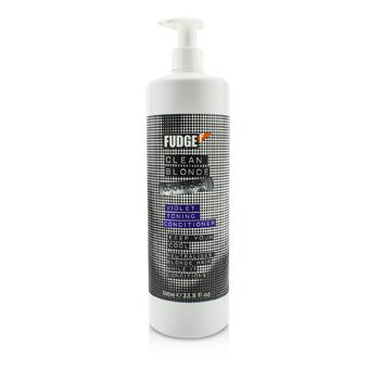 Fudge Clean Blonde Violet Toning Conditioner (Neutralises Blonde Hair)  1000ml/33.8oz