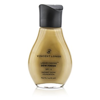 Vincent Longo Liquid Canvas Dew Finish Foundation SPF15 (Radiant Glow) - # 4 Warm Beige (Unboxed)  30ml/1oz