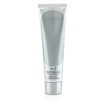 Kanebo Sensai Silky Purifying Mud Soap - Wash & Mask (New Packaging)  125ml/4.3oz