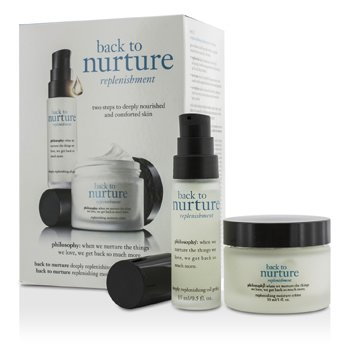 Philosophy Back To Nurture Set: 1x Deeply Replenishing Oil Gelee 15ml/0.5oz, 1x Replenishing Moisture Creme 30ml/1oz  2pcs