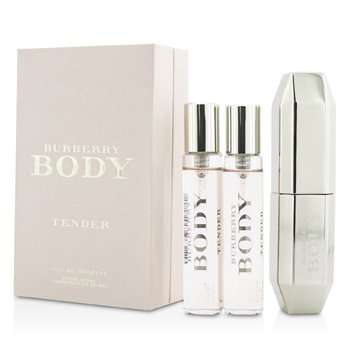 Burberry Body Tender Eau De Toilette Spray  de Cartera & 2 Repuestos  3x15ml/0.5oz