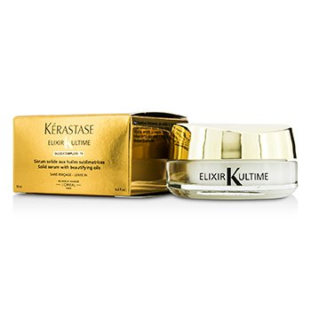 Kerastase Leave In Oleo-Complexe Solid Serum with Beautifying Oils Elixir Ultime (Para Cabelos Secos, Danificados, Espessos ou com Frizz)  18ml/0.6oz