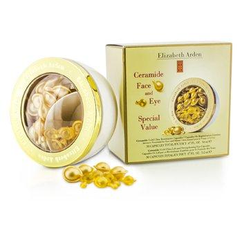 Elizabeth Arden Ceramide Gold Capsule de Refacere și Capsul de Întărire pentru Ochi  2x30 Capsules