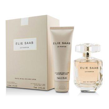 Elie Saab Le Parfum Coffret: Eau De Parfum Spray 90ml/3oz + Body Lotion 75ml/2.5oz  2pcs