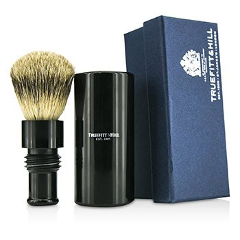 Truefitt & Hill Turnback Traveler Badger Hair Shave Brush - # Ebony  1pc
