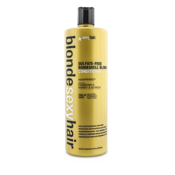 Sexy Hair Concepts Blonde Sexy Hair  Bombshell Blonde Acondicionador Libre de Sulfato (Preservador Diario de Color)  1000ml/33.8oz