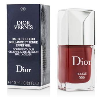 Christian Dior Dior Vernis Couture Colour Gel Shine & Long Wear Nail Lacquer - # 999 Rouge  10ml/0.33oz