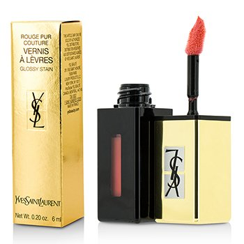 Yves Saint Laurent Rouge Pur Couture Vernis A Levres Pop Water Glossy Stain - #207 Juicy Peach  6ml/0.2oz