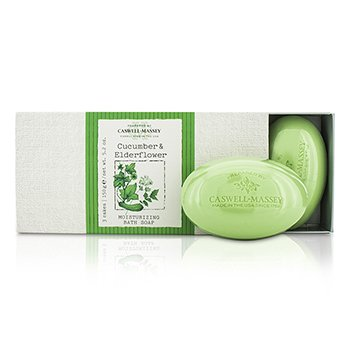 Caswell Massey Cucumber & Elderflower  Set Jabones Humectantes de Ba�o  3x150g/5.2oz