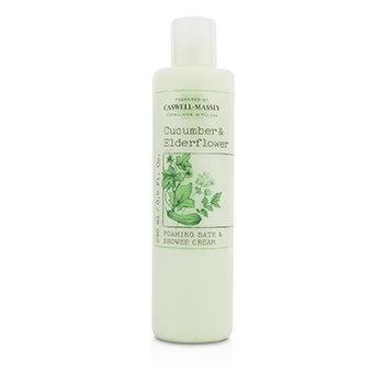 Caswell Massey Cucumber & Elderflower Foaming Bath & Shower Cream - Perawatan Badan  240ml/8oz