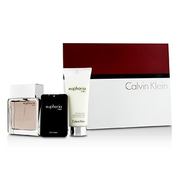 Calvin Klein Euphoria Intense Kofre: EDT Sprey 100ml/3.4oz + Tıraş Sonrası Balsam 100ml/3.4oz + EDT 20ml/0.67oz  3pcs