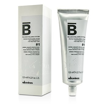 Davines Balance Relaxing System Protective Relaxing Cream # 1 (For Fine Frizzy Hair)  125ml/4.22oz