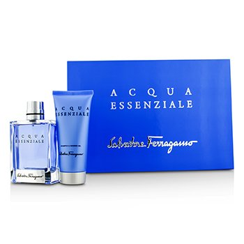 Salvatore Ferragamo Acqua Essenziale Coffret: Eau De Toilette Spray 100ml/3.4oz + Shampoo & Shower Gel 100ml/3.4oz  2pcs