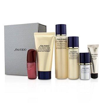 Shiseido Set Vital-Perfection: Espuma Limpiadora 50ml+Suavizante 75ml+Emulsi�n 30ml+Ultimune Concentrado 10ml+Suero 10ml+Primer 10ml  6pcs