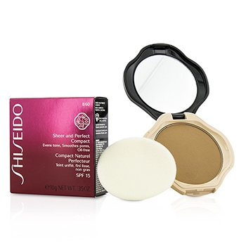 Shiseido Base Compacta Sheer & Perfect SPF15 - #B60 Natural Deep Beige  10g/0.35oz