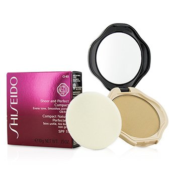 Shiseido Base Compacta Sheer & Perfect SPF15 - #O40 Natural Fair Ochre  10g/0.35oz