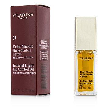 Clarins Eclat Minute Instant Light Aceite Confort Labios - # 01 Honey  7ml/0.1oz