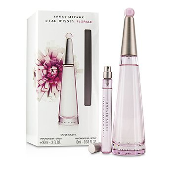 Issey Miyake L'Eau D'Issey Florale Coffret: Eau De Toilette Spray 90ml/3oz + Eau De Toilette Spray 10ml/0.33oz  2pcs