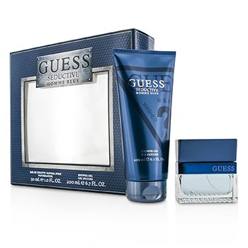 Guess Seductive Blue Coffret: Eau De Toilette Spray 30ml/1oz + Shower Gel 200ml/6.7oz  2pcs