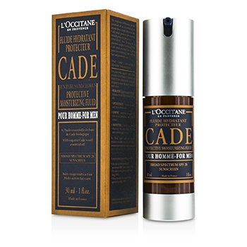 L'Occitane Cade For Men Fluido Humectanto Protector De Amplio Espectro SPF 20 Cuidado Solar  30ml/1oz