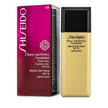 Shiseido Base Pura & Perfecta SPF 18 - # I00 Very Light Ivory  30ml/1oz
