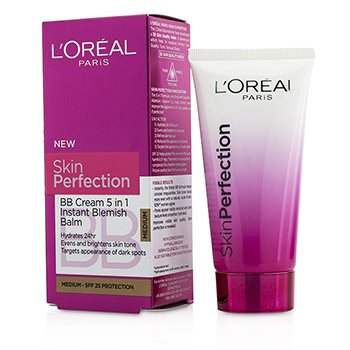 L'Oreal Skin Perfection BB Cream 5 in 1 Instant Blemish Balm SPF 25 - # Medium  50ml/1.69oz