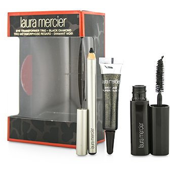 Laura Mercier Eye Transformer Trio (1x Mini Glace para Olhos 4g + 1x Mini Lápis Kohl 0.85g + 1x Mini Rímel 5.7g) - Black Diamond  3pcs