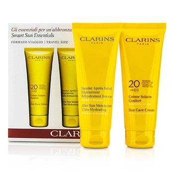 Clarins Smart Sun Essential Kit: Sun Care Cream 20 UVA/UVB 100ml + After Sun Moisturizer 100ml  2pcs