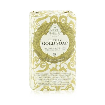 Nesti Dante 60 Anniversary Luxury Gold Soap With Gold Leaf (Edisi Terbatas) - Sabun Badan Emas  250g/8.8oz