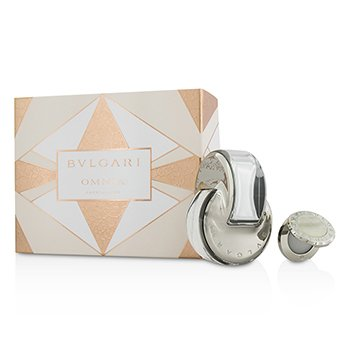 Bvlgari Omnia Crystalline Set: Apă de Toaletă Spray 65ml/2.2oz + Parfum Solid 1g/0.03oz  2pcs