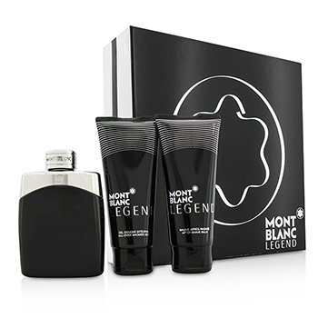 Mont Blanc Legend Coffret: Eau De Toilette Spray 100ml/3.3oz + B�lsamo para Despu�s de Afeitar 100ml/3.3oz + Gel de Ducha Total 100ml/3.3oz  3pcs