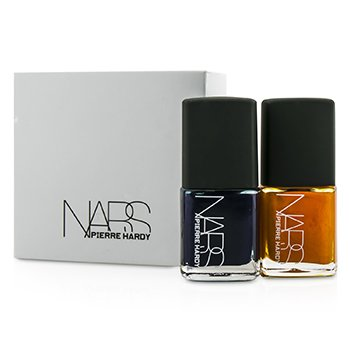 NARS Pierre Hardy Ethno Run Nail Polish Duo (1x Dark Blue, 1x Bright Orange)  2x15ml/0.5oz